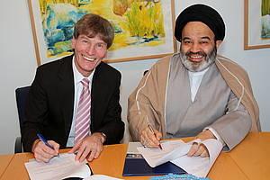 abdollhassan nawab urd und der Rektor der Universität Paderborn