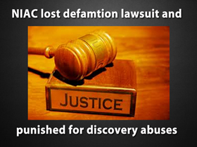NIAC Lost Defamation Case and was Sanctioned for Discovery Abuses
